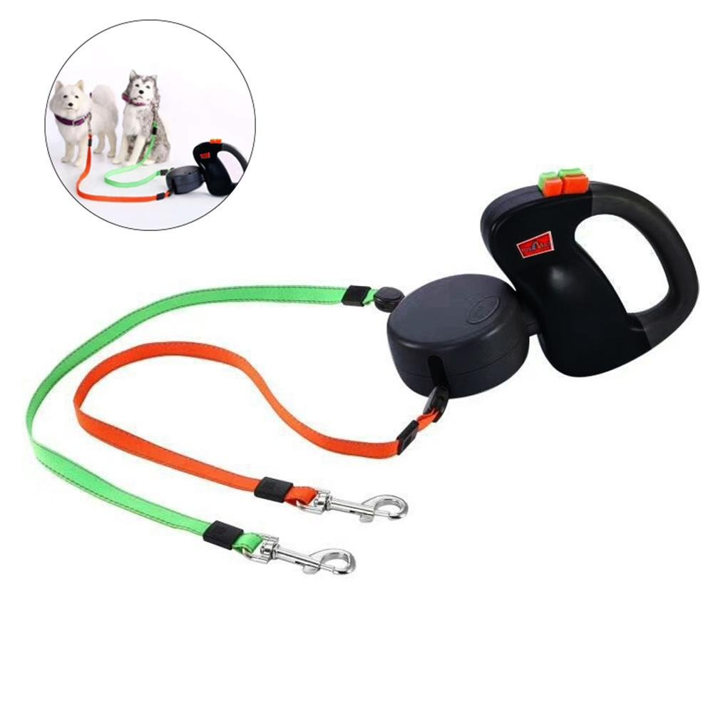 Foonee Double Dog Leash for 2 Dogs, Automatic Dog Retractable Leash, Dual Cord 10 Ft (3M) No Tangle Automatic Dual Pet…