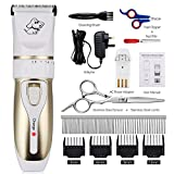 Dog Cat Grooming Clippers Kit Pet Hair Remover Professional Rechargeable Trimmers Cordless Clippers