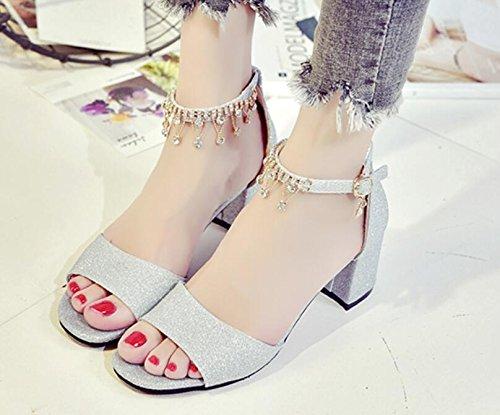 2017 estate nuovo ruvido con sandali parola selvaggia signore alto con scarpe diamanti 1