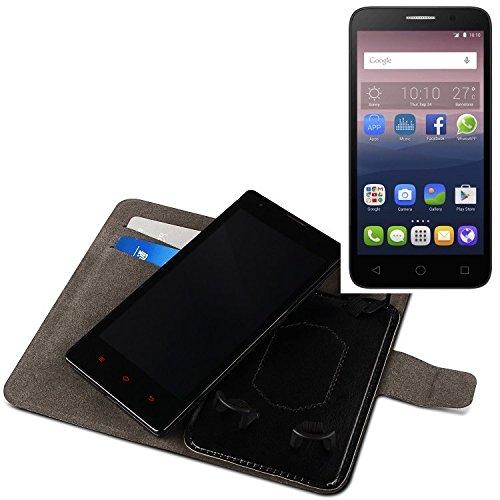 K-S-Trade® Für Alcatel One Touch Pop 3 (5) Dual-SIM Schutz Hülle Case Walletcase Schwarz Handytasche Mit Kreditkartenfächern Und Standfunktion Bookstyle Klapphülle Etui Handy Case Schutzhülle