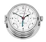Maritime Tide-und Gezeiten Uhr aus Messing verchromt