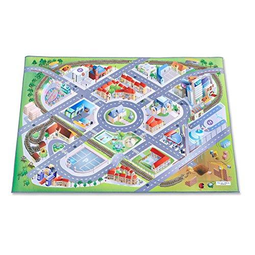 Leisure Spielteppich Stadt mit Flughafen - Rutschfest 100 x 150 cm