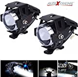 #9: AllExtreme U5 CREE LED Driving Fog Light Fog in Aluminum Body for All Motorcycles, ATV and Bikes (15W, Pack of 2)