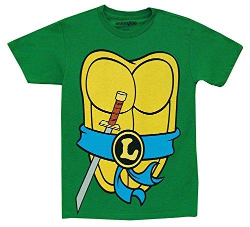 Kostüm Turtle Kleinkind Ninja (Teenage Mutant Ninja Turtles Tmnt Kostüm grün Kleinkind T-Shirt (Kleinkind 7T, Leonardo (blau)))