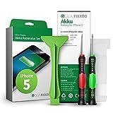GIGA Fixxoo iPhone 5 Lithium-Ionen Akku Austausch-Set mit Bildanleitung zum Selbermachen; Komplettes Werkzeug Set zur Schnellen & Einfachen Reparatur
