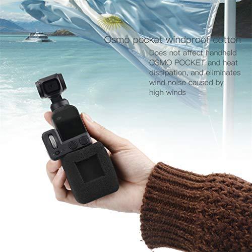 TAOtTAO WindSlayer Foam Windschutz für DJI Osmo Pocket Zubehörhalterung Baumwolle mit Mikrofon-Rauschunterdrückung -