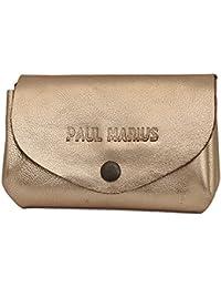 LE GUSTAVE Doré porte-monnaie en cuir souple avec bouton pression et nombreux rangements PAUL MARIUS