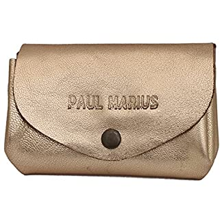 LE GUSTAVE DORÉ cartera de cuero, monedero estilo vintage oro PAUL MARIUS