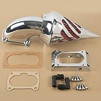 TengChang motocicleta Cromo Espiga Kit de filtro de admisión de filtro de aire para Kawasaki Vulcan
