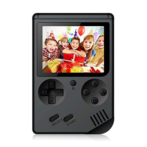 Console di gioco portatile, Rongyuxuan Console da gioco da 3 pollici 168 Giochi Retro FC Game Player Console per videogiochi con carica USB per bambini Genitori Amici