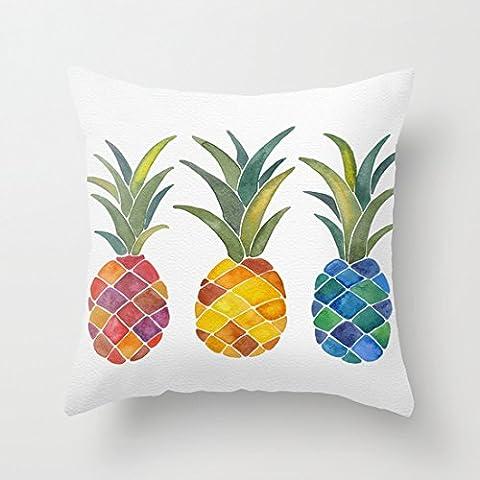 Mignon Ananas Taie d'oreiller décoratifs avec fermeture Éclair Accent oreillers Cases 18x 18pour le salon Canapé