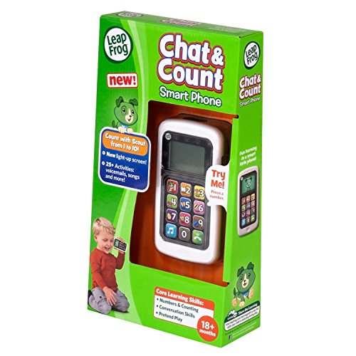 Leap Frog Chat & Count Cell Phone - electrónica para niños (Verde)