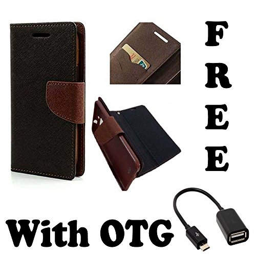 Micromax Canvas 2.2 A114 Flip Cover  Original Premium PU Leather Flip Diary Card Pocket Designer Case Cover Stand with Screen Film Protector with free OTG By 1by1  available at amazon for Rs.189