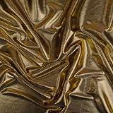 StoffHandwerker Effektstoff Meterware - 155 cm breit - Stretch - Gold