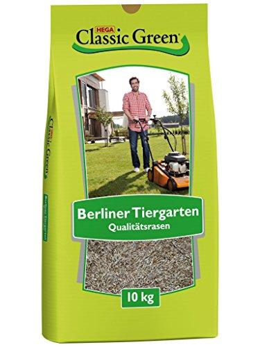 CLASSIC GREEN Rasensamen Berliner Tiergarten Rasensaat 10kg | Grassamen | Rasensamen 10kg | Premium Rasensaat | Rasensaat Berliner Tiergarten | Rasensaatgut | Rasensaat elegant