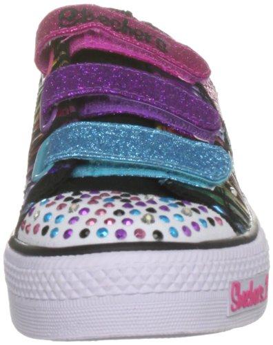 Skechers Twinkle Toes Shuffles, Triple Time, Sneakers Ragazze Nero (Bkmt)