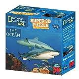 National Geographic NG10800 Puzzle 3D pour enfant Motif requins 150pièces