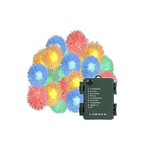 Battery Operated Blossom String Lights, Loende 18FT 50LED Fairy Flower