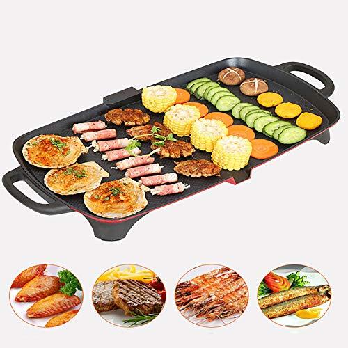 LINLIN BBQ Elektrische Grillplatte Einstellbare Temperaturregelung Einfache Reinigung Kochen Oberfläche und Thermostat Tropfschale Haushalt Tischplatte Pfanne 50 * 28 cm -