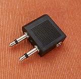 Flugzeugadapter für Kopfhörer Audio Adapter für Flugzeug mir 2x3