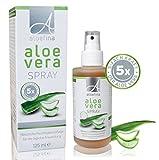 Aloe Vera Spray - 5-Fach-Konzentrat - Aloe Vera Juice - natürliche Hautpflege, auch für sensible Haut – ohne künstliche Farb- und Duftstoffe – Naturkosmetik – dermatologisch getestet - Aloefina