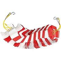 TMS PRO SHOP Absperrgirlande, für kurzfristige Absperrmaßnahmen, rot/weiß, Kunststoff, aus Kunststoff (7 m)
