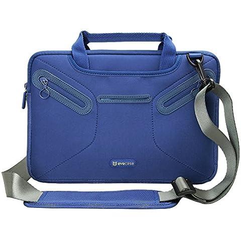 Evecase Maletín Universal para Portátil o tablet 11,6 pulgados, Estuche de Neopreno, Azul