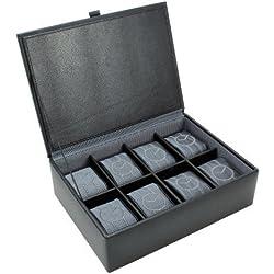 8 Piece Leather Watch Box Grey