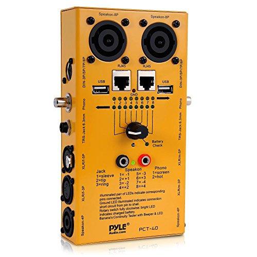 Pyle 12 Stecker Pro Audio Kabel Tester, PCT40