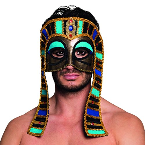 Pharaonenmaske Erwachsene Ägyptische Herrenmaske Faschingsmaske Antike Karnevalsmaske Ägypter Gesichtsmaske König Altertum Tutanchamun Maske