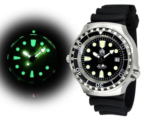 """Tauchmeister diver watch """"Automatic Movt."""" Sapphire glass – Helium Velve T0046"""