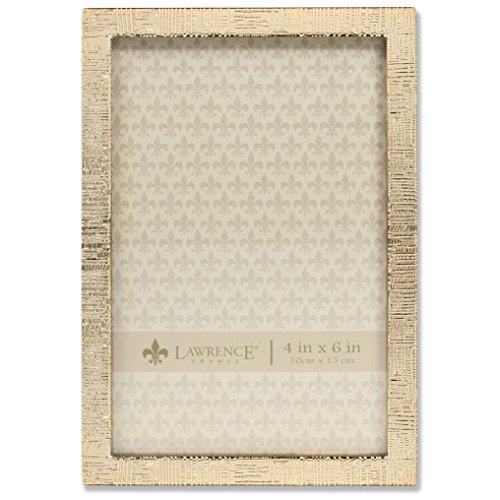 Lawrence Frames 4x 6Gold Metall Bild Rahmen mit Leinen Muster -
