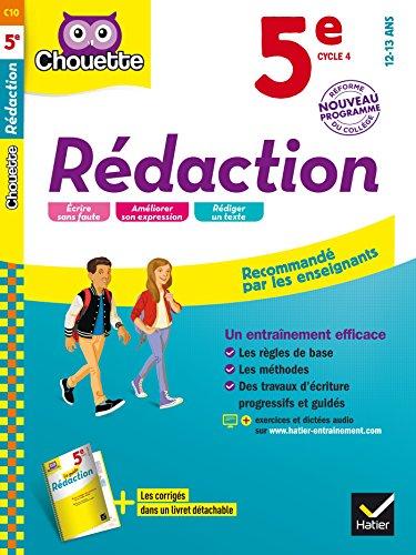 Rédaction 5e - Nouveau programme 2016