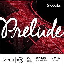 D'Addario Prelude Violin J810 4/4 Medium Tension, Full Set