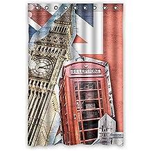 "doubee London Car impermeable cortina de ducha Durable poliéster cortina de ducha 120cm x 183cm, poliéster, E, 48"" x 72"""