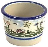 Original westerwälder Kannenbäckerland salzglasierte Steinzeug Keramik Töpfchen (groß, Heile Welt)