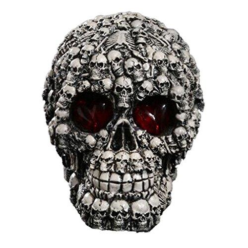 MagiDeal LED Crâne Statue Figurine Humain Tête Décoration Halloween # 1