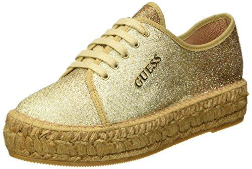 Guess Glitter Fabric - Sneaker basse Donna, Oro, 38