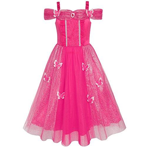 Prinzessin Kind Kostüm Party Tee - Sunboree Mädchen Kleid Schmetterling kleiden Oben Prinzessin Kostüme Party kleiden Gr. 122