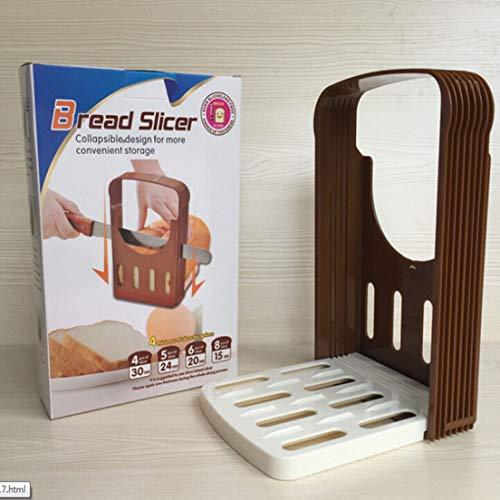 DFHJSXD Japanische Abs Einfache Toastbrot Messerschneider Toastbrot Slice Baking Tool Brotschneider Kitchen Helper-Brown