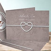Einladungskarten Hochzeit Selber Gestalten, Starke Verbindung 10 Karten,  Horizontale Klappkarte 148x105 Inkl. Weißer