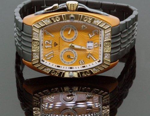 AQUA MASTER - Reloj de pulsera hombre, piel, color negro