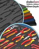 Shadow Foam, grau, Schutz für grauen Werkzeugkoffer, Verpackungsausrüstung., grau