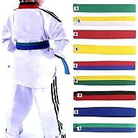 Lunji - cinturón para taekwondo, karate, Judo 250x 4cm, diferentes colores a elegir, amarillo, 250cmx4cm
