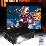 Proyector UC40+ Versión Mejorada de UC40 HD MINI Proyector Privado Cine HIMI Proyector (USB AV A/V VGA IP IR) Para Cine en Casa Cine Video Juegos TV Movie Entretenimento Portátil Teatro de Casa