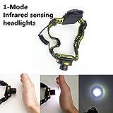Infrarrojos de detección de faros de escalada al aire libre viajes Night Ride Súper brillantes de iluminación Cabeza de la antorcha de mano agitando detección de faros