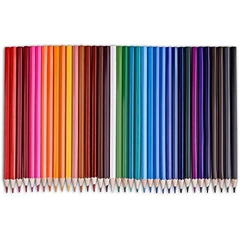 Candora ™ 36-colour eco-pencils Art lápices de colores en caja de cilindro paquete para libros para colorear dibujo escribir dibujar y dibujar diseños y creatividad colorido tarjetas de