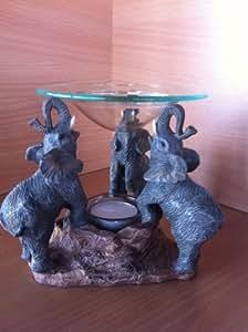 Figurine Déco Elephant Aroma Oil Burner lampe