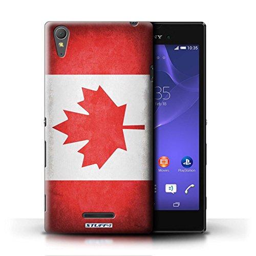 Coque en plastique pour Sony Xperia T3 Collection Drapeau - Brésil/brésilien Canada/canadien