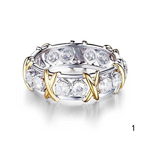 Blue Vessel Engagement Ring Wedding Ring Verlobungsring Ehering Zirkon Kreuz Kristall Ringe für Braut Frauen